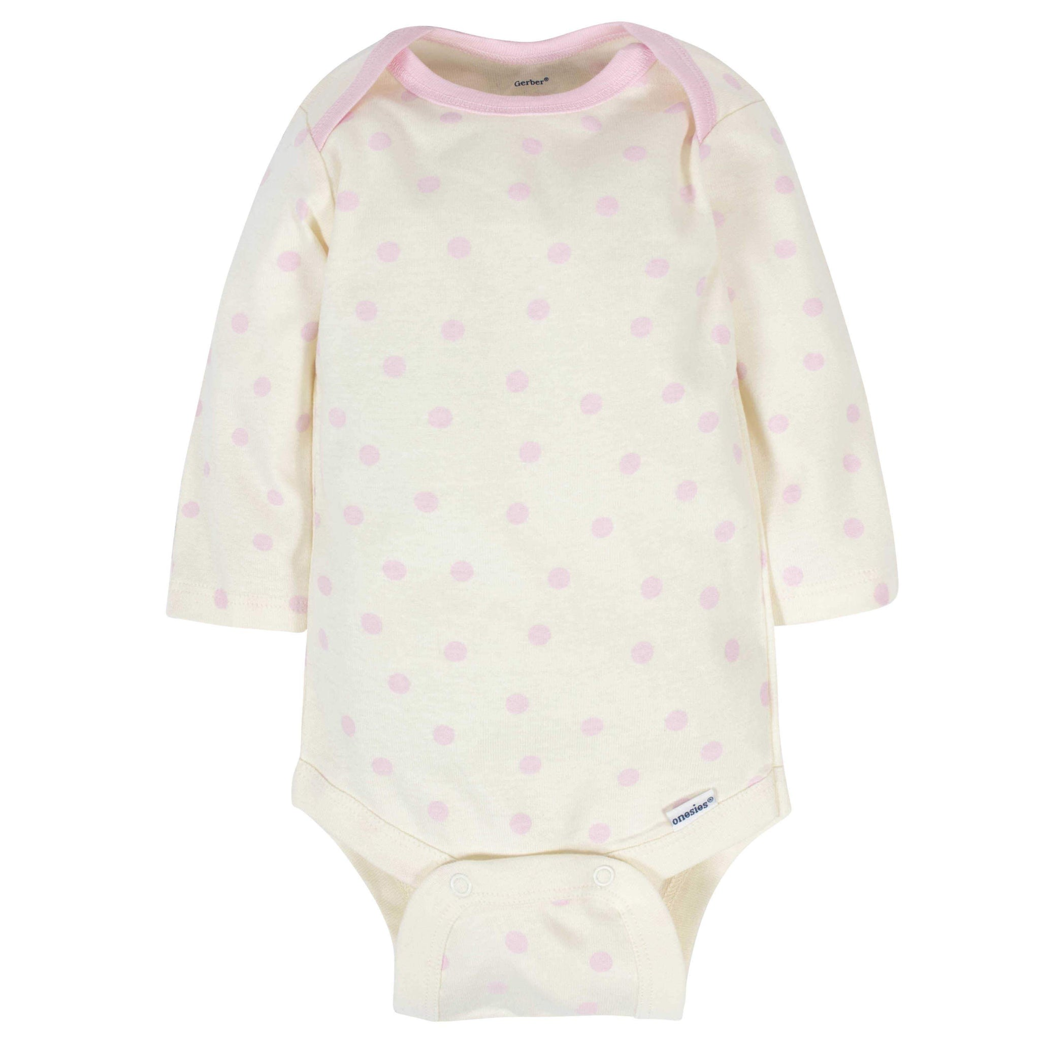 6-Pack Baby Girls Bunny Long Sleeve Onesies