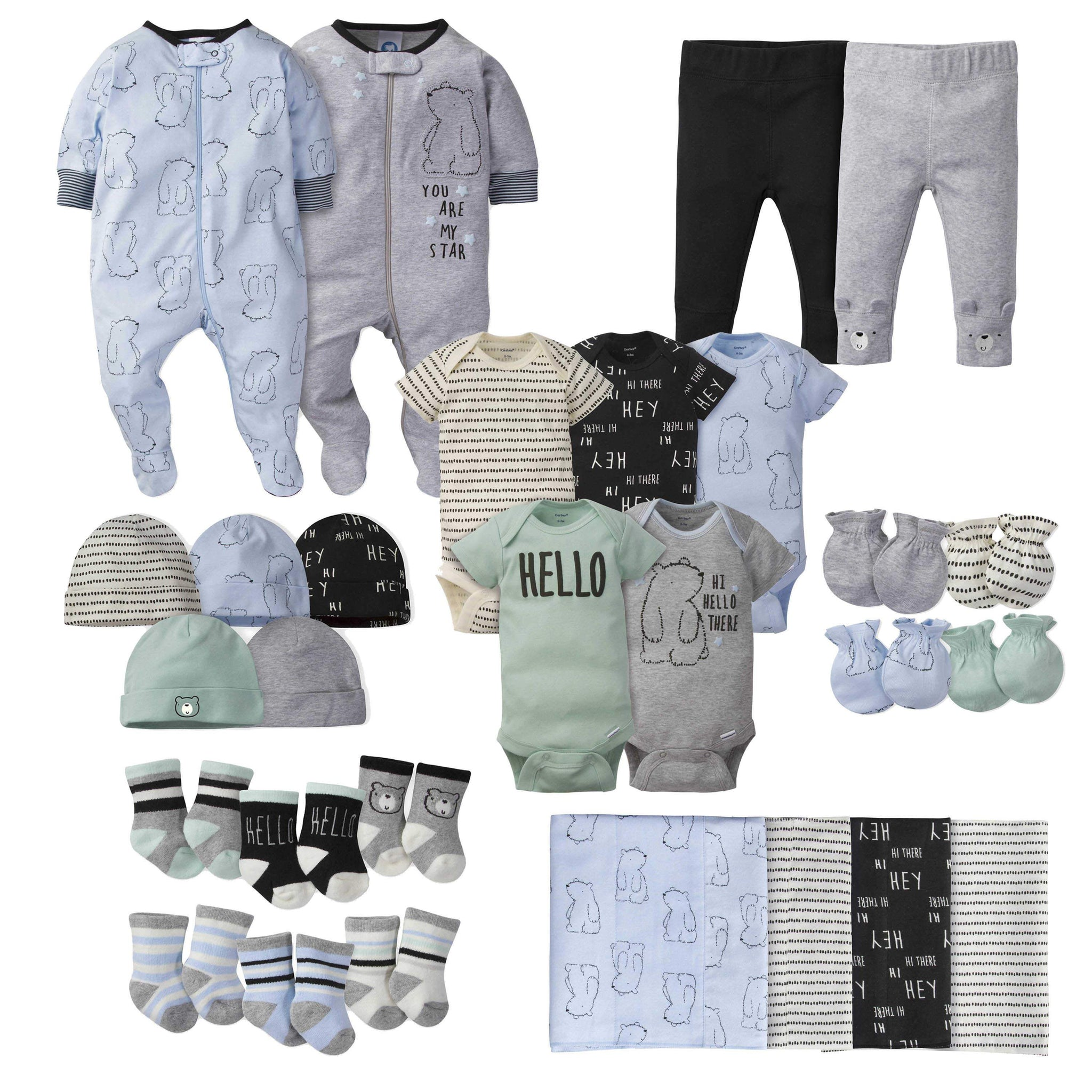 Gerber® 28-piece Baby Boys' Bear Bundle Set