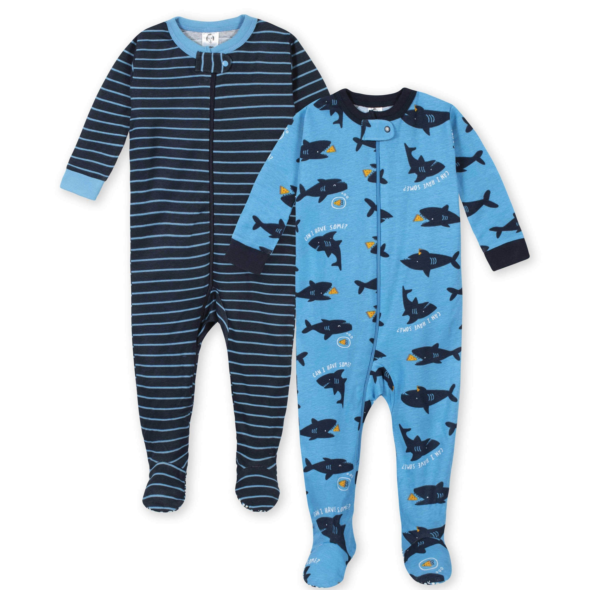 Gerber® 2-Pack Boys Sharks Footed Pajamas-Gerber Childrenswear