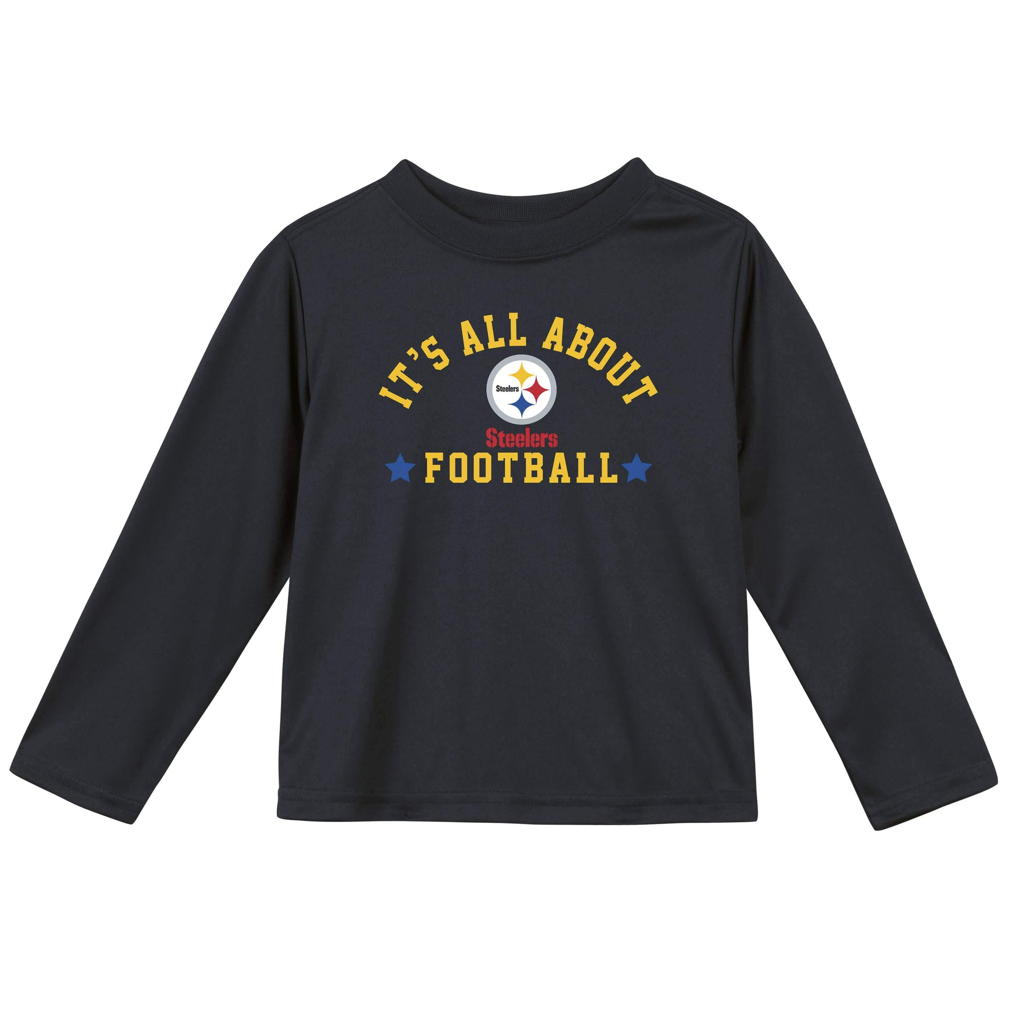 Pittsburgh Steelers Baby and Toddler Boys Long Sleeve Tee Shirt-Gerber Childrenswear