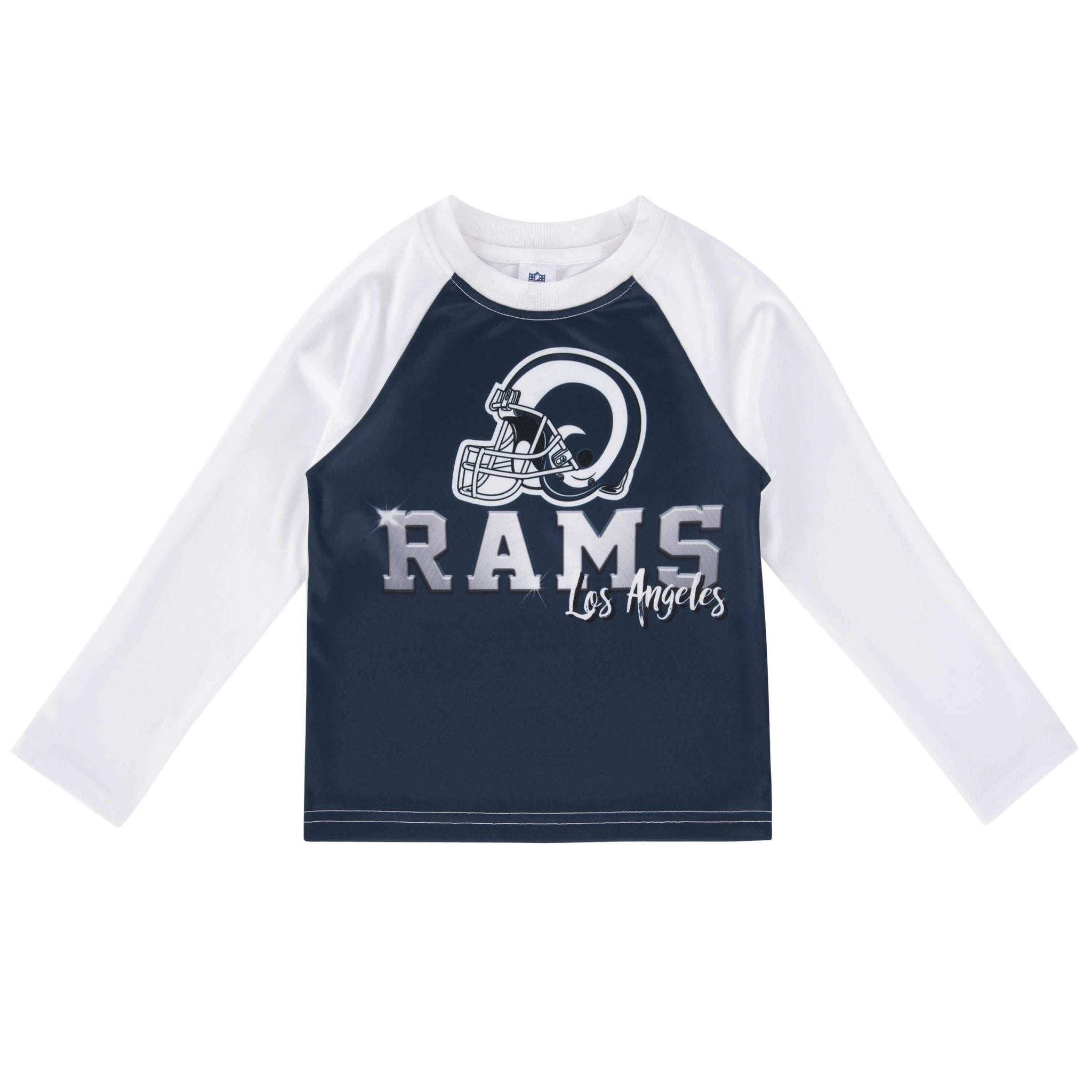 Los Angeles Rams Long Sleeve Tee Shirts-Gerber Childrenswear