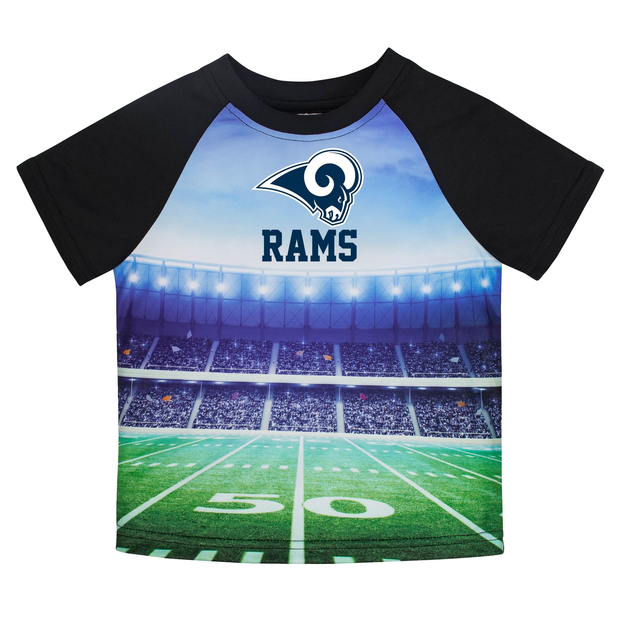 LA Rams Boys Short Sleeve Tee Shirt-Gerber Childrenswear