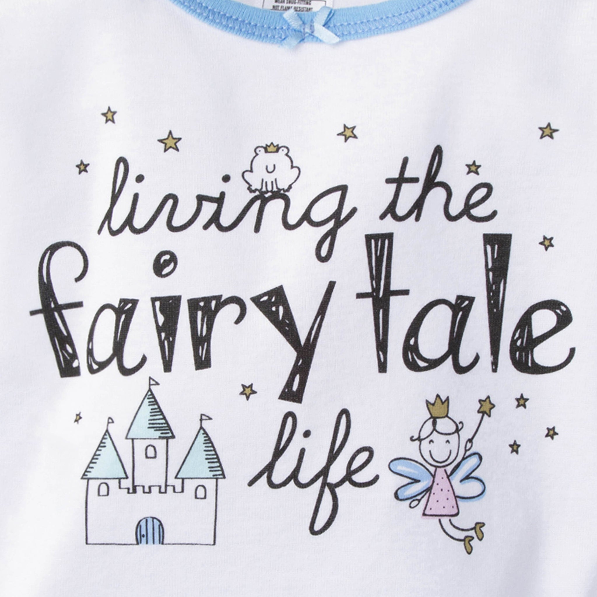 4-Piece Girls Cotton Pajamas - Fairy Tale