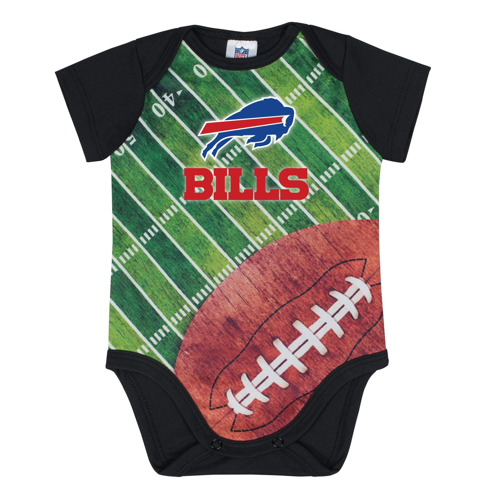 Buffalo Bills Baby Boy Short Sleeve Bodysuit-Gerber Childrenswear