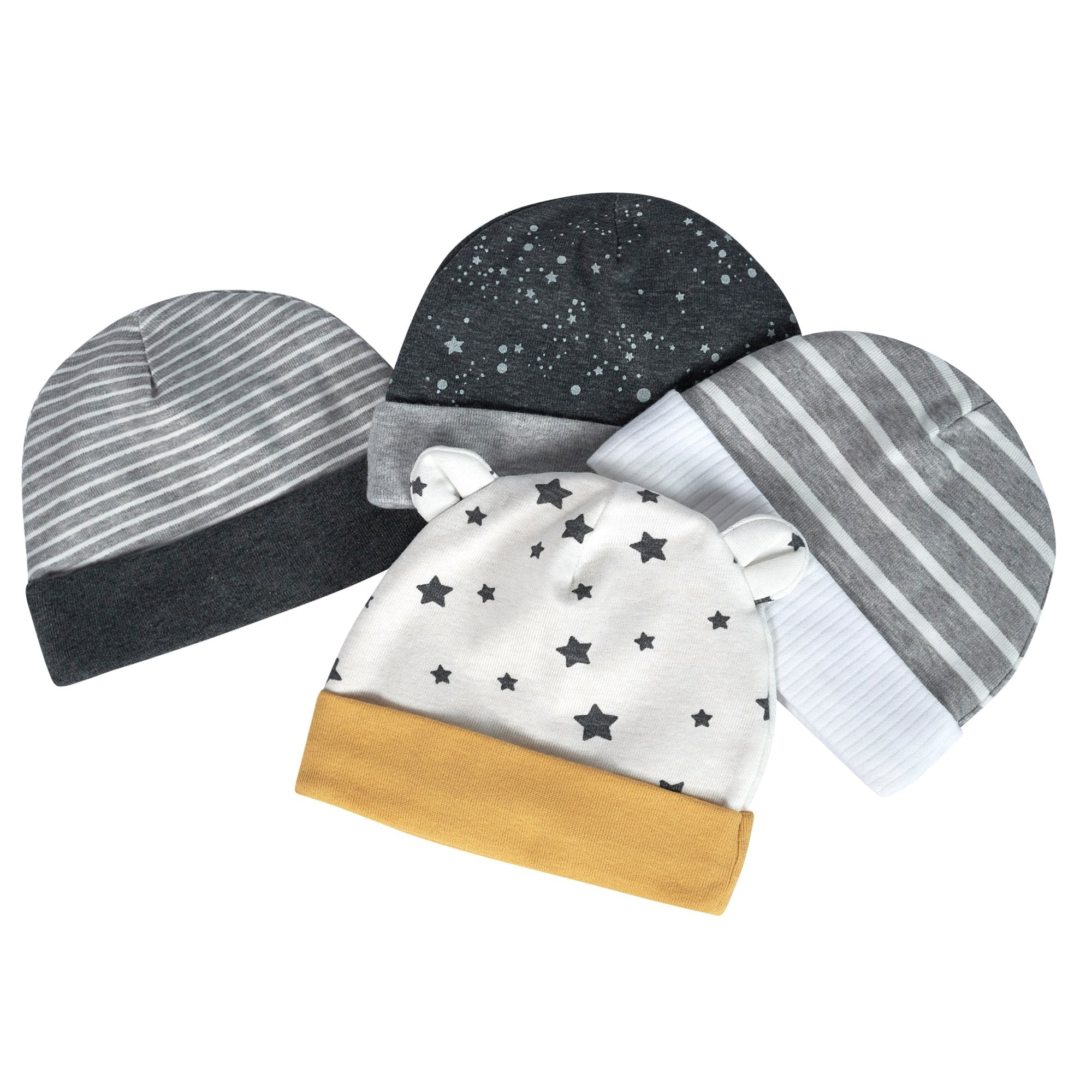 Just Born® Organic Baby Boys 4-Pack Lil' Lion Hats