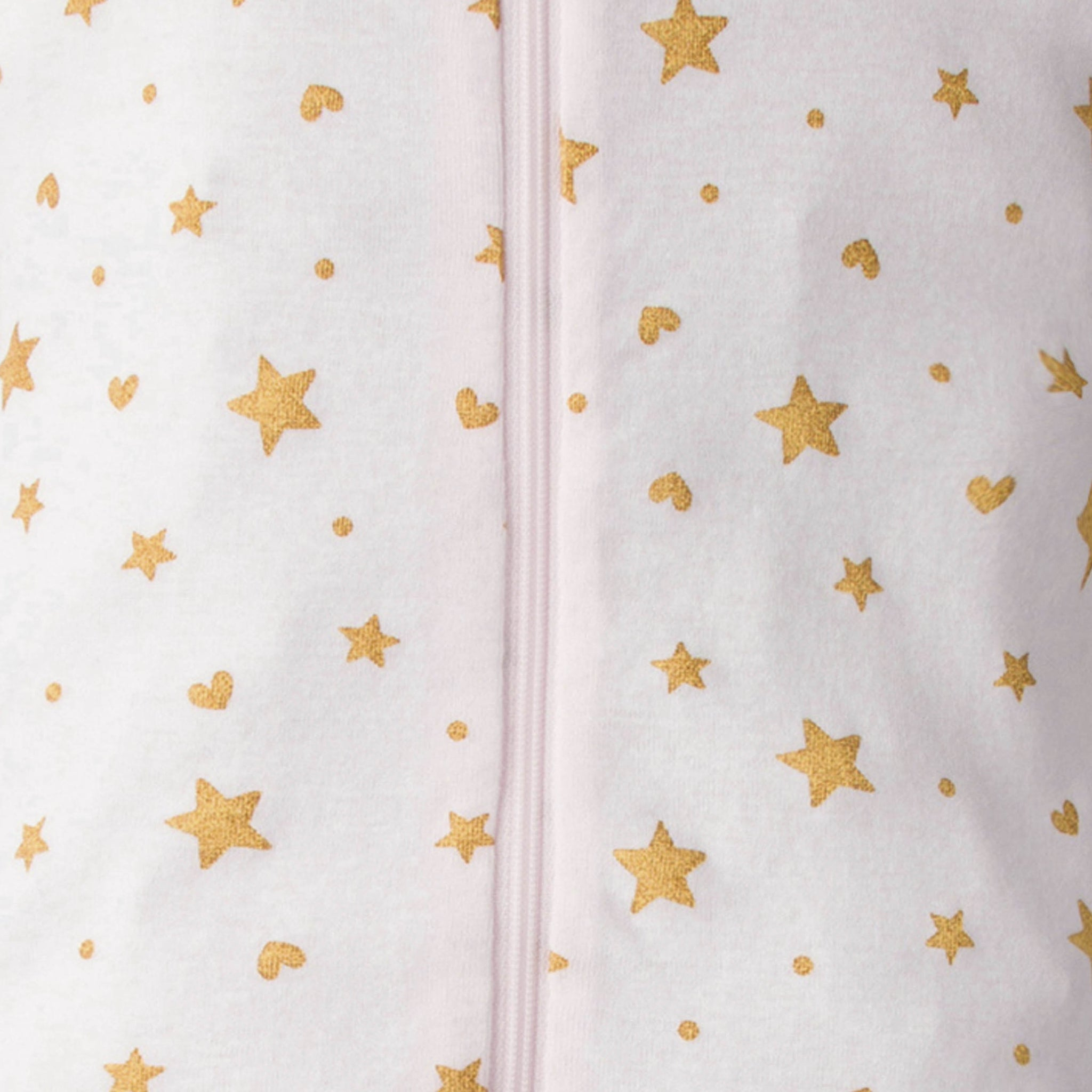 2-Pack Baby Girls Footed Union Suits - Stars And Hearts