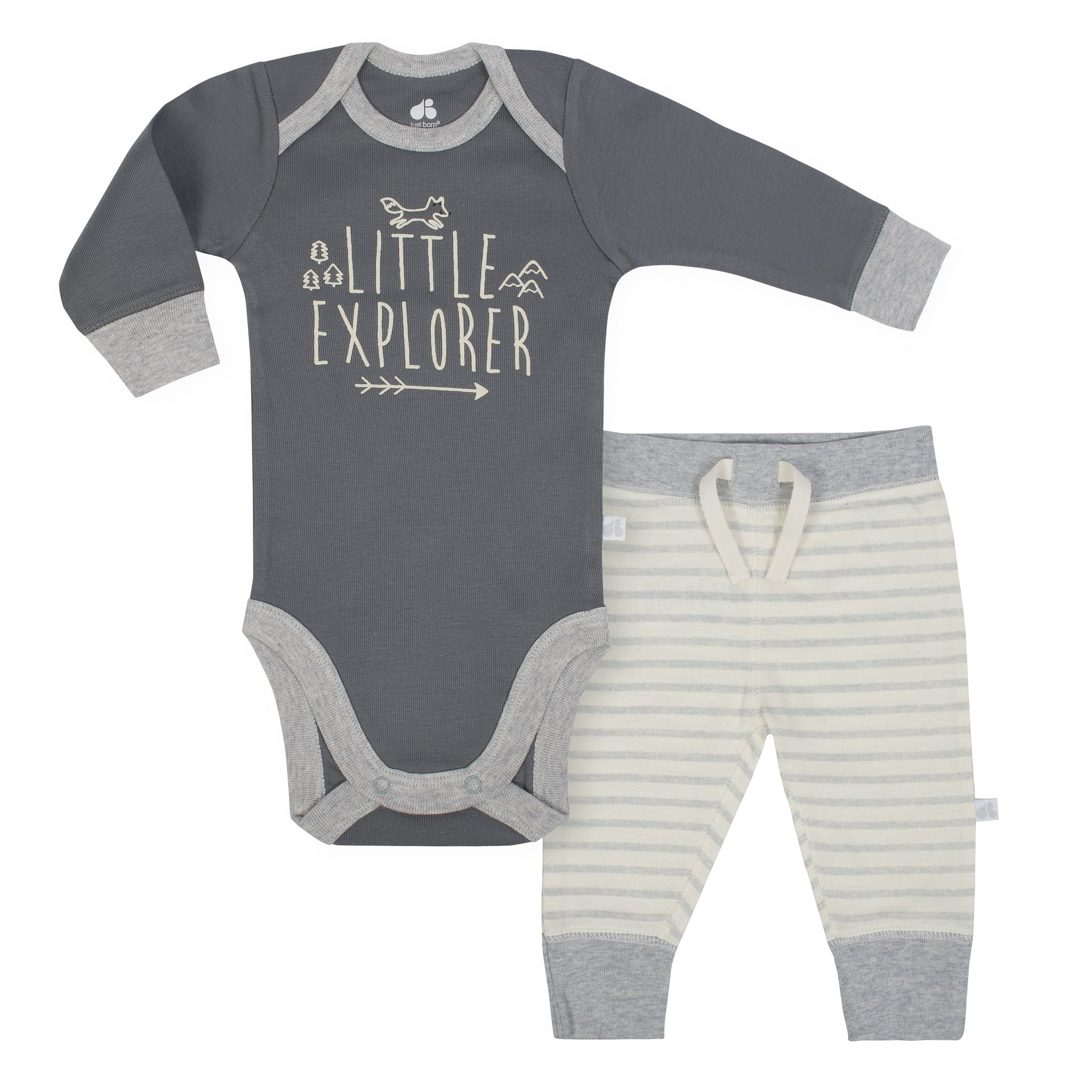 Baby Boy Just Born® Organic 2-piece Fox Bodysuit and Pants Set