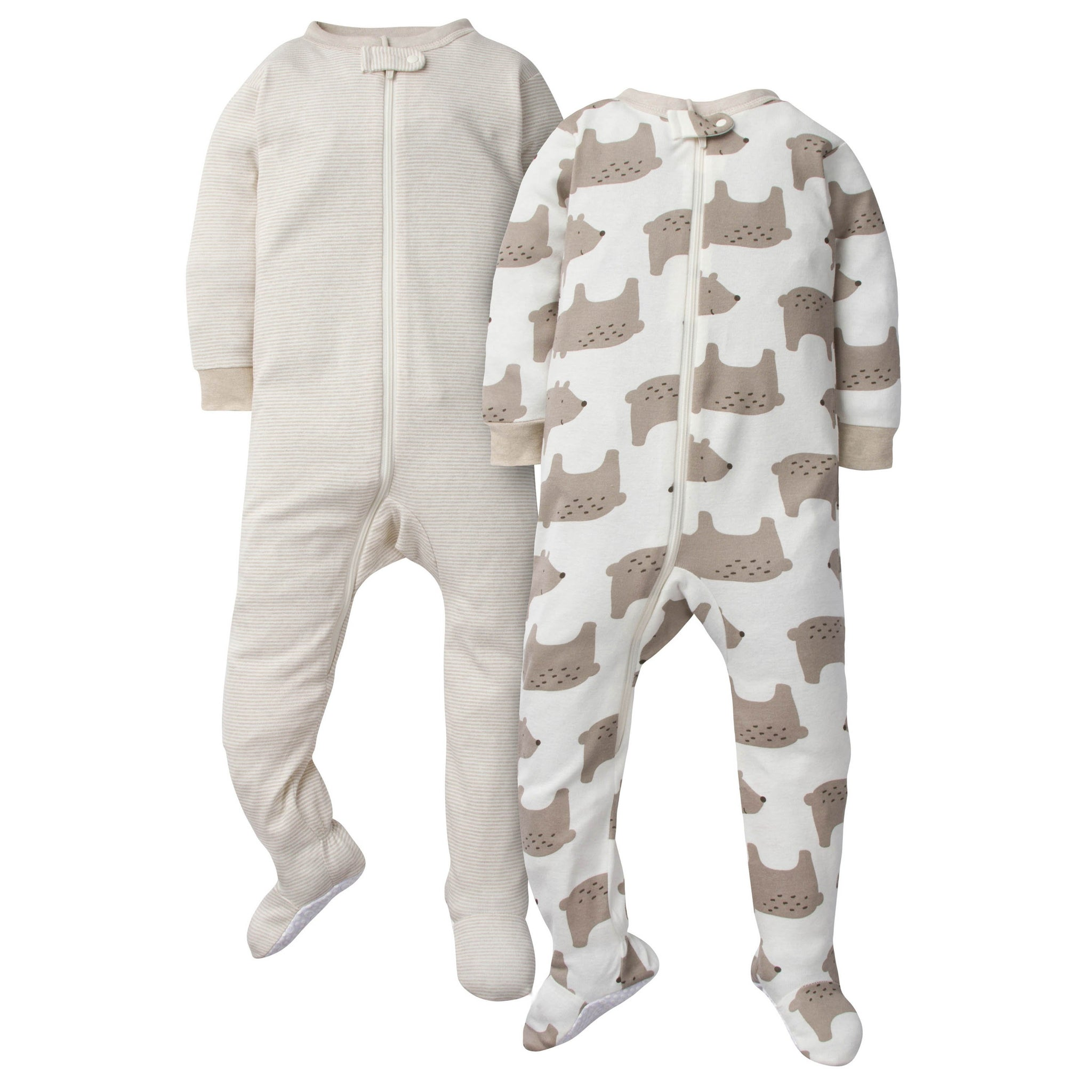 2-Pack Baby Boys Footed Union Suits - Bear