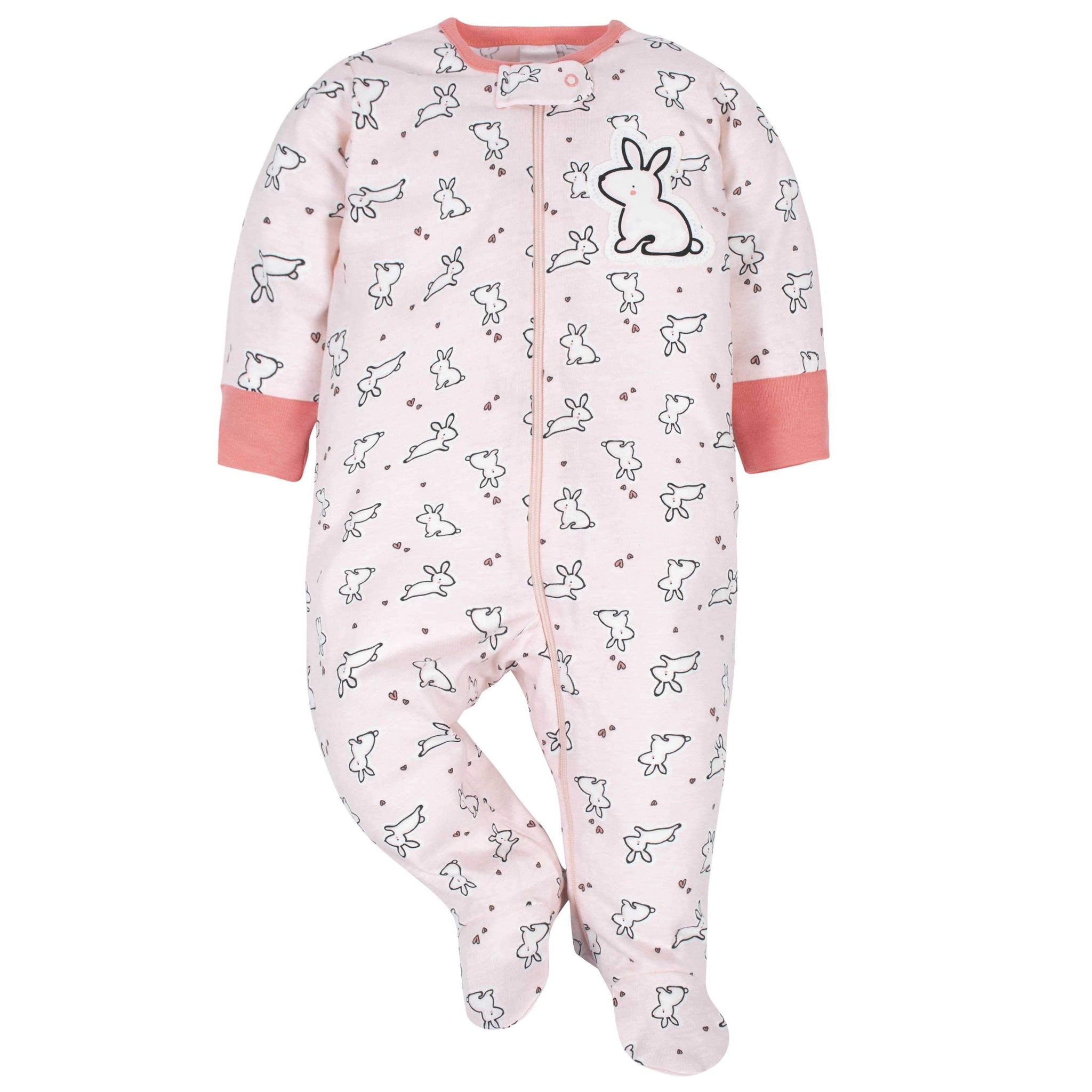 Gerber® Baby Girls Bunny Sleep 'N Play-Gerber Childrenswear