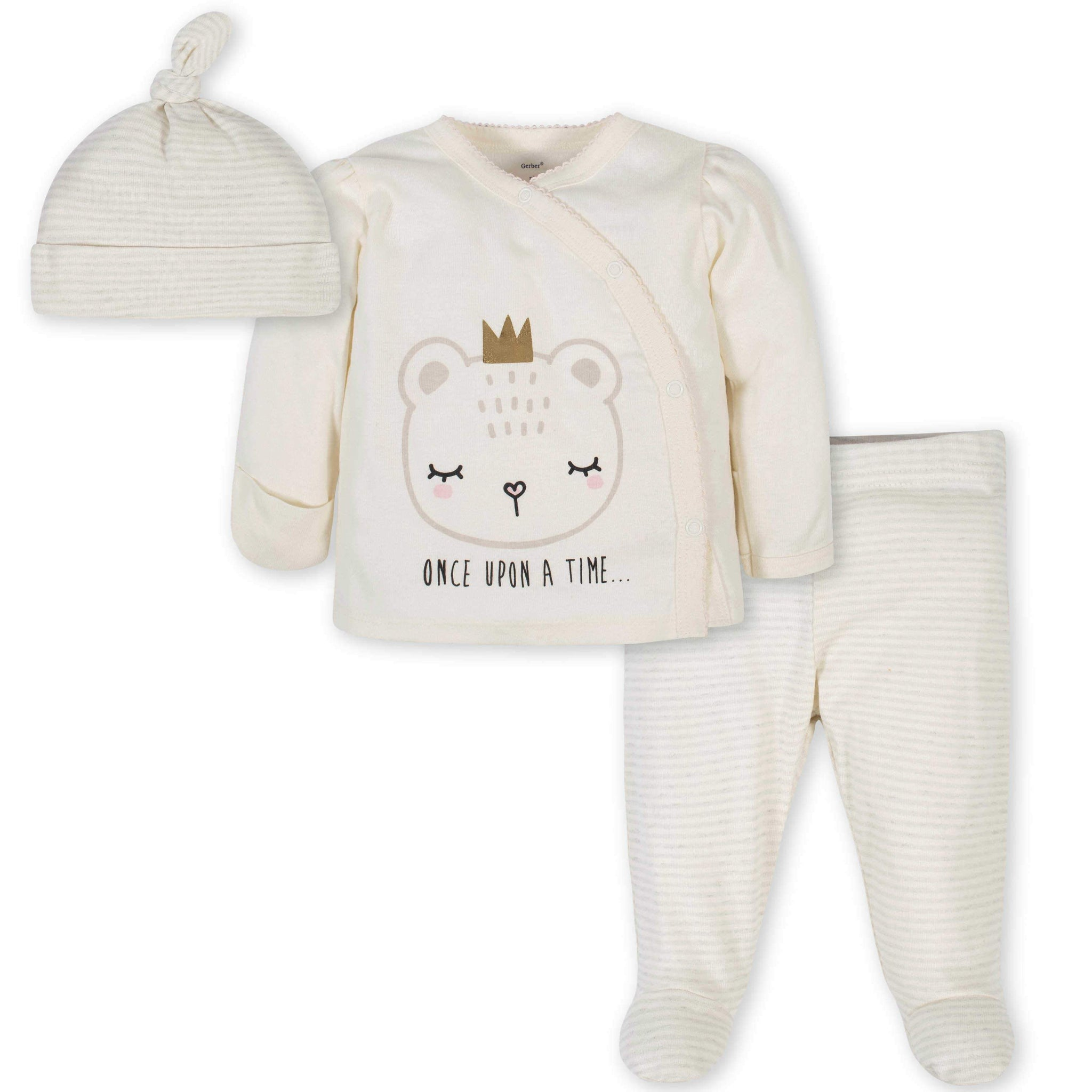 Gerber® 3-Piece Baby Girls Bear Take-Me-Home Set