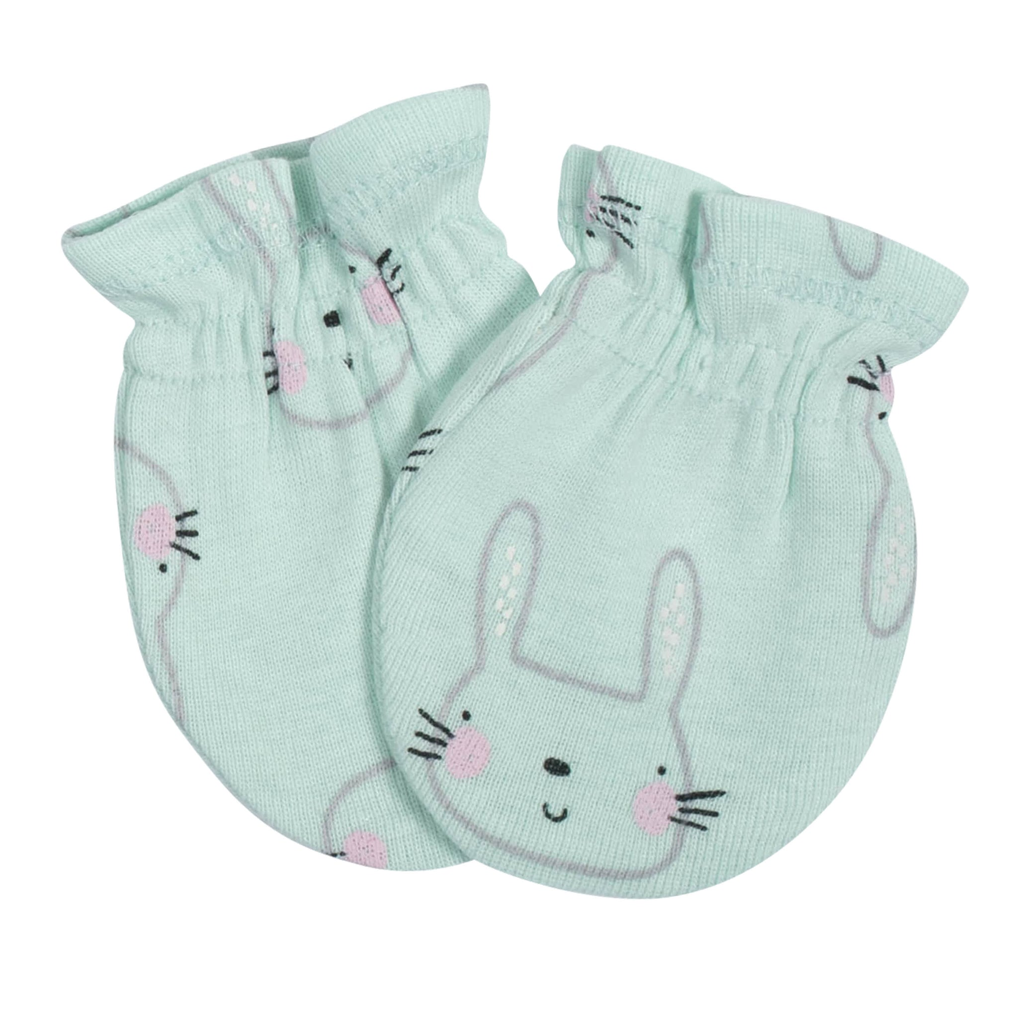 Gerber® 3-Pack Baby Girls Bunny No Scratch Mittens