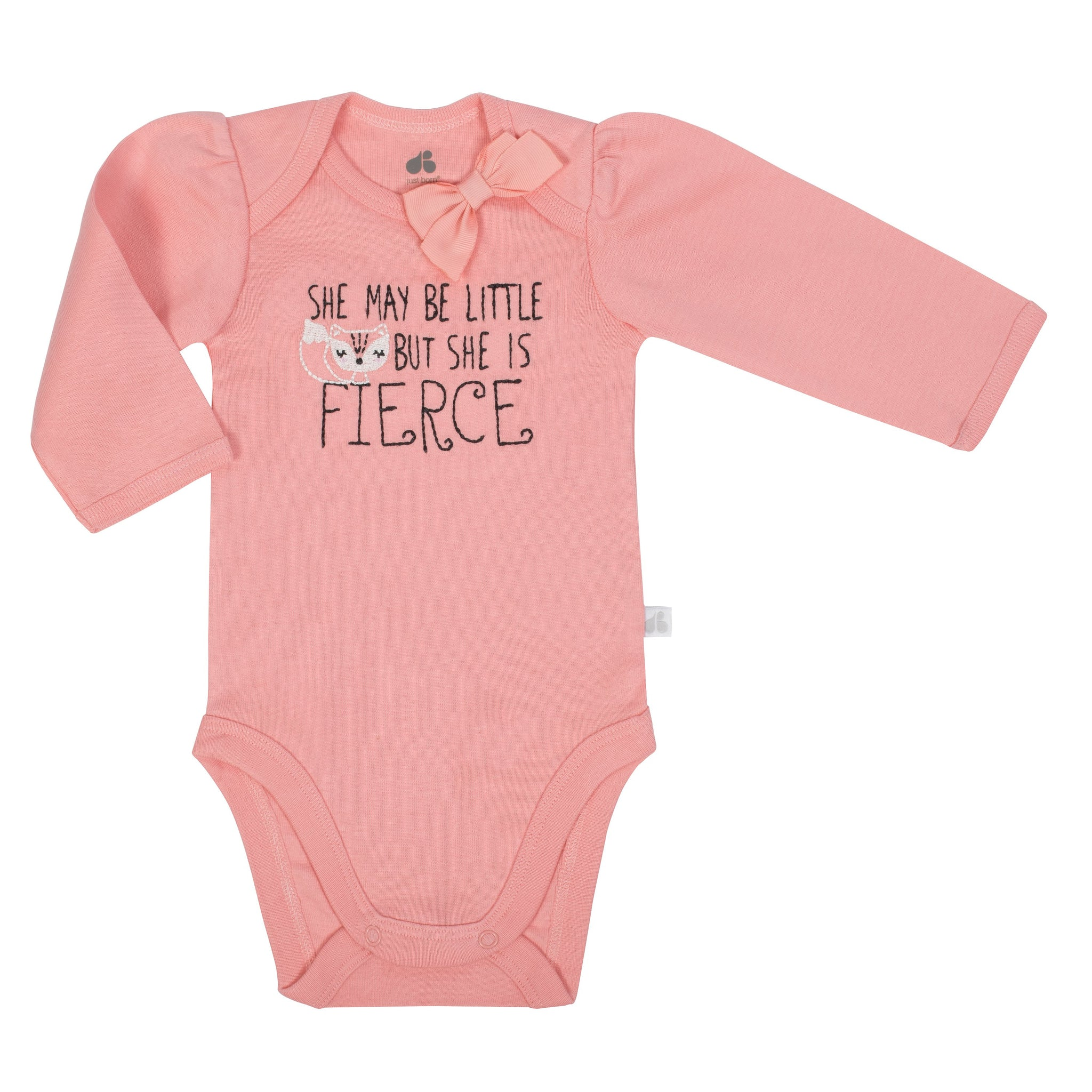 Baby Girl Just Born® Organic Fox Bodysuit and Pants Set-Gerber Childrenswear