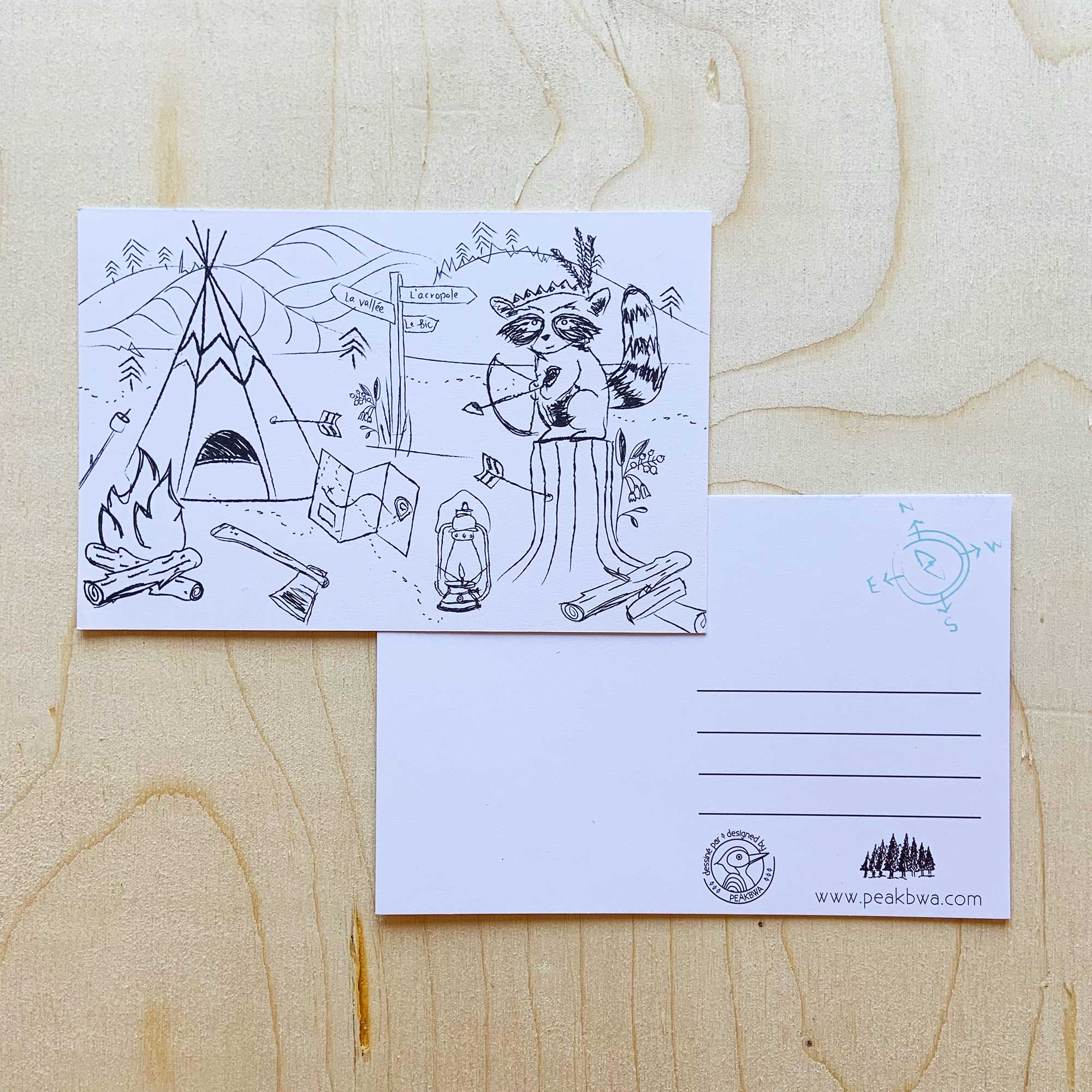 <transcy>Coloring postcards (pack of 4)</transcy>