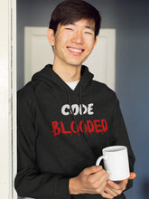 Load image into Gallery viewer, Code blooded programmer Hooded Sweatshirt