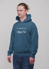 Load image into Gallery viewer, I need a break programmer Hooded Sweatshirt