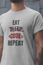 Load image into Gallery viewer, Eat Sleep Code Repeat Programmer T-Shirt