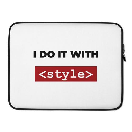 I do it with style CSS Laptop Case
