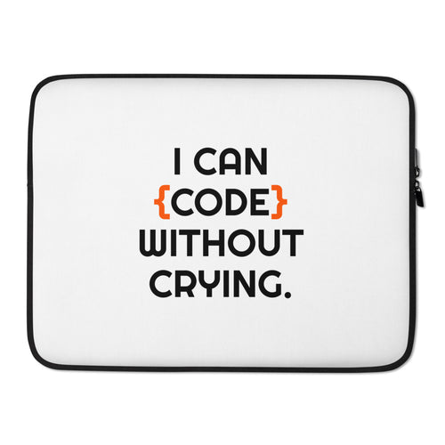 I can code without crying programmer Laptop Case