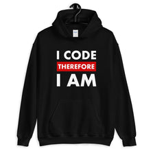 Load image into Gallery viewer, I code therefore I am programmer Hoodie Sweatshirt