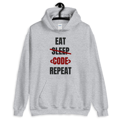 Eat Sleep Code Repeat Programmer Hoodie Sweatshirt