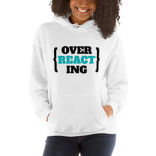 Load image into Gallery viewer, Over Reacting REACT developer Hoodie Sweatshirt
