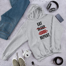 Load image into Gallery viewer, Eat Sleep Code Repeat Programmer Hoodie Sweatshirt