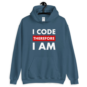 I code therefore I am programmer Hoodie Sweatshirt