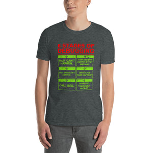 6 Stages of Debugging T-Shirt