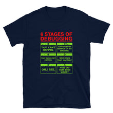 Load image into Gallery viewer, 6 Stages of Debugging T-Shirt