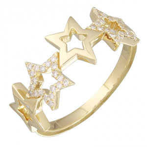 Stars Diamond Ring