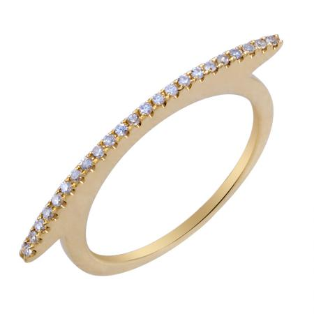 Diamond Curve Bar Ring