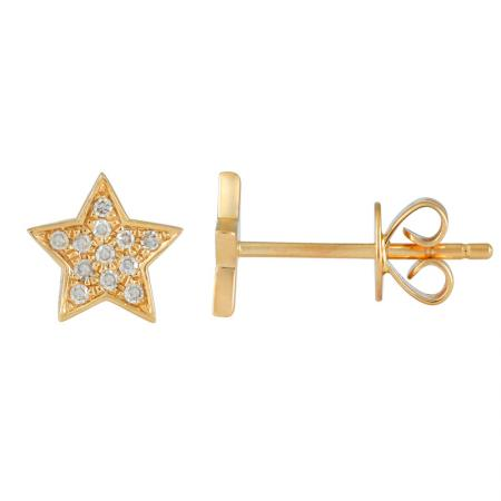 Diamond Star Earrings - VaskiaJewelry