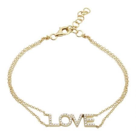 Diamond LOVE Bracelet - VaskiaJewelry