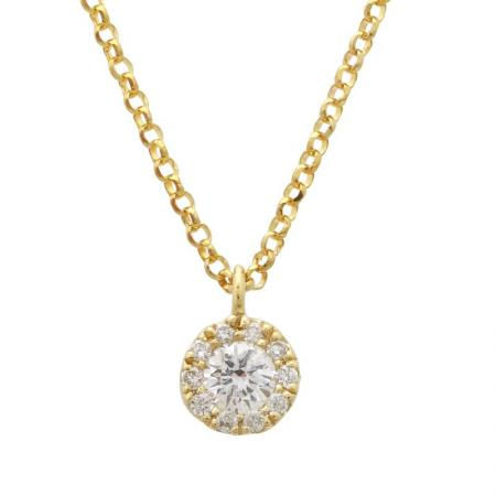 Diamond Pendant With Chain - VaskiaJewelry