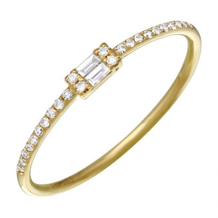 Double Baguette Diamonds Ring - VaskiaJewelry