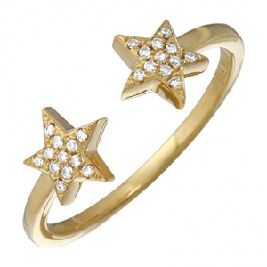 Two Star Open Ring