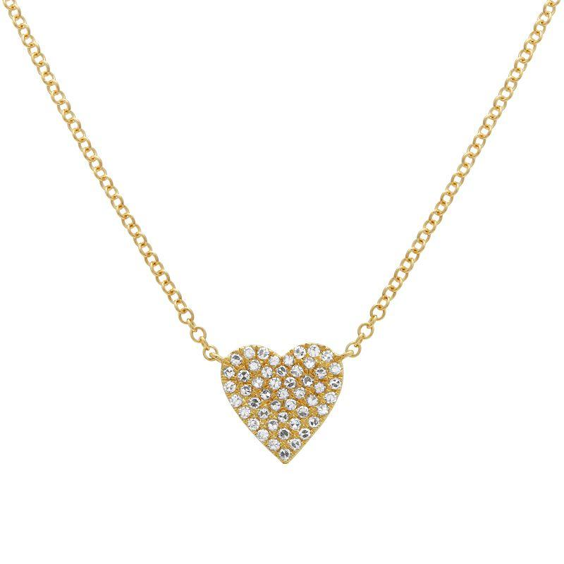 Diamond Heart Necklace - VaskiaJewelry