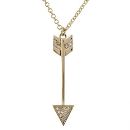 Diamond Arrow Pendant with Chain