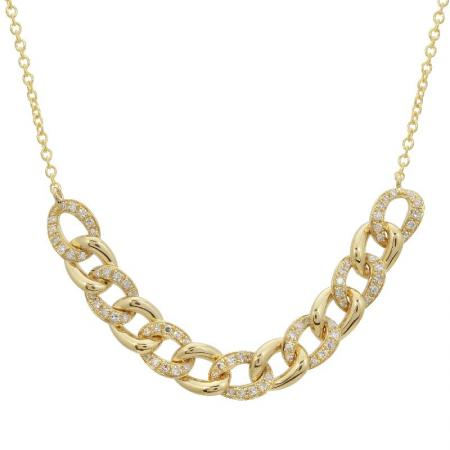 Diamond Link Necklace - VaskiaJewelry