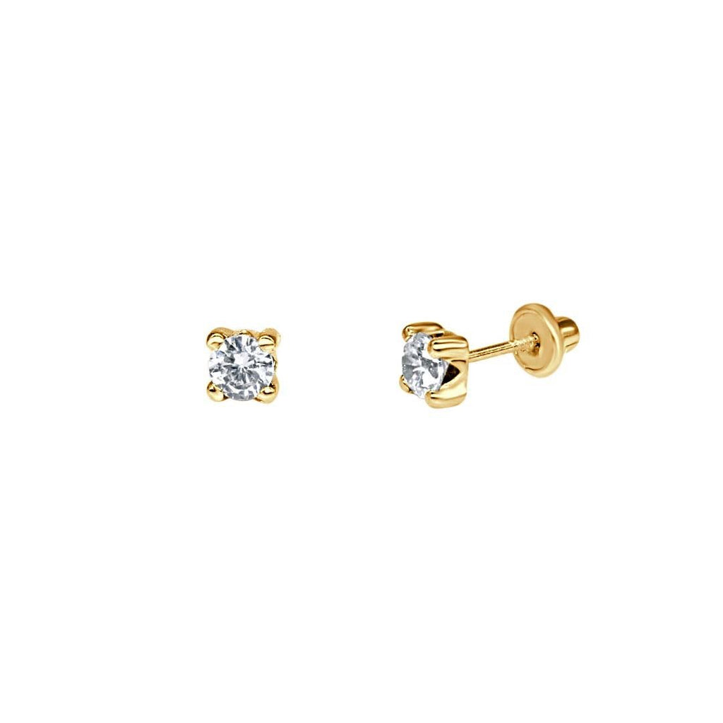 Cubic Zirconia Solitaire Earrings - VaskiaJewelry