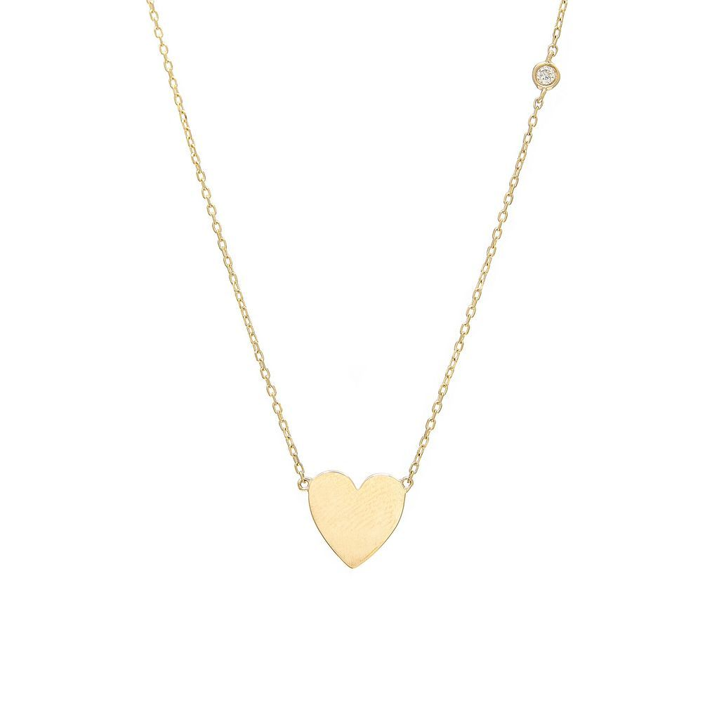 Heart Single Diamond Necklace