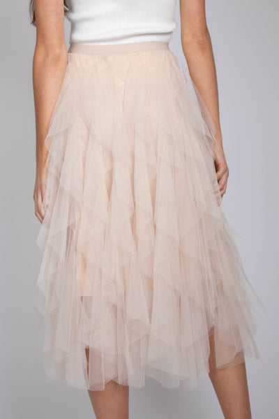 Layered Tulle High Waist Skirt