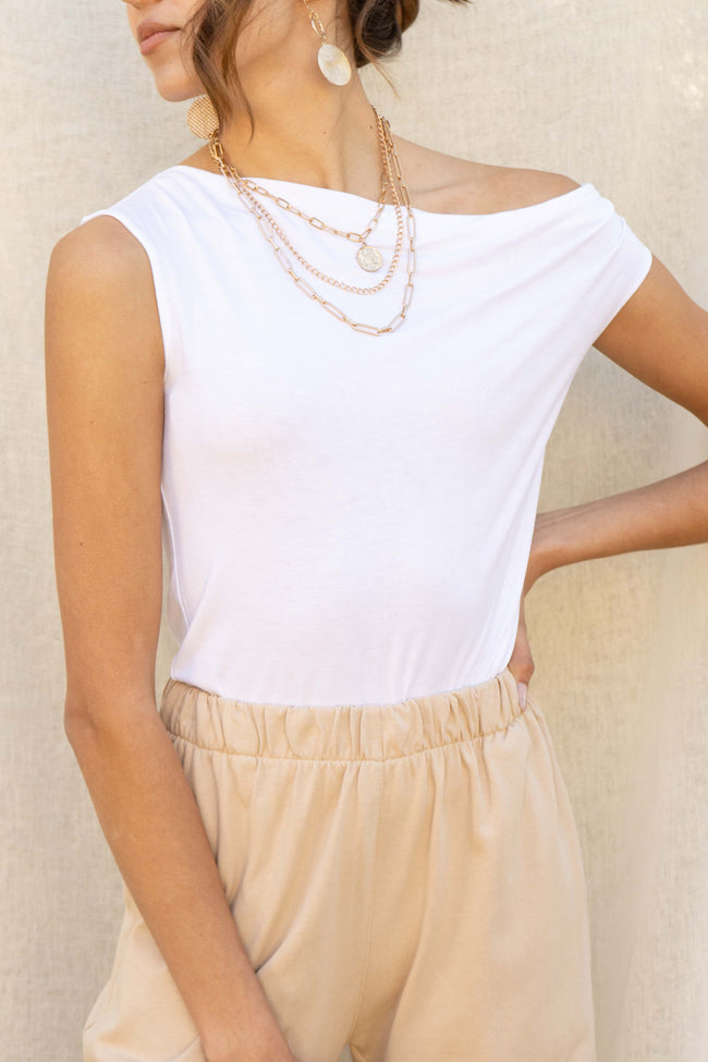Off One Shoulder Basic Top