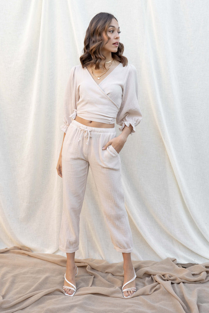Lyla Gauze Top And Pant Set
