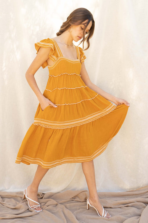 Aruba Ruffle Tiered Dress
