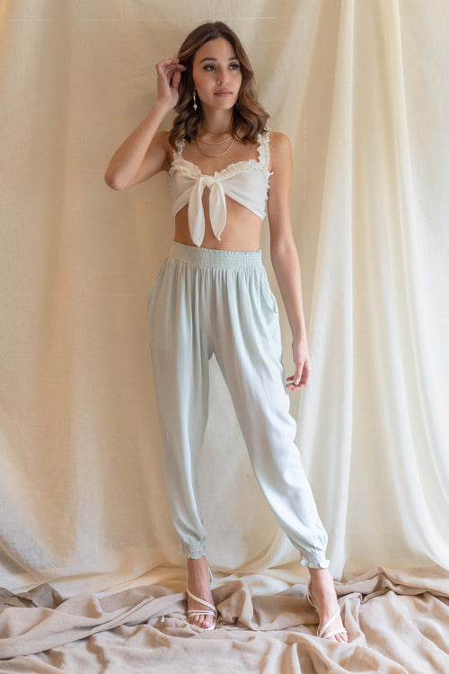 Sweetheart Ruffle Crop Top