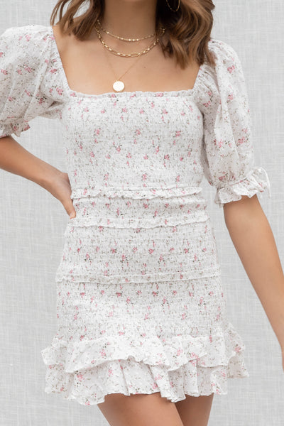 Ellie Floral Smocked Dress