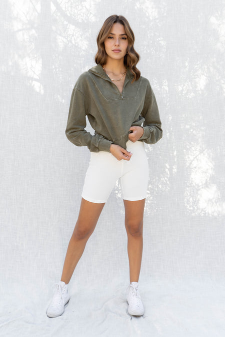 Finley Ruched Long Sleeve Top