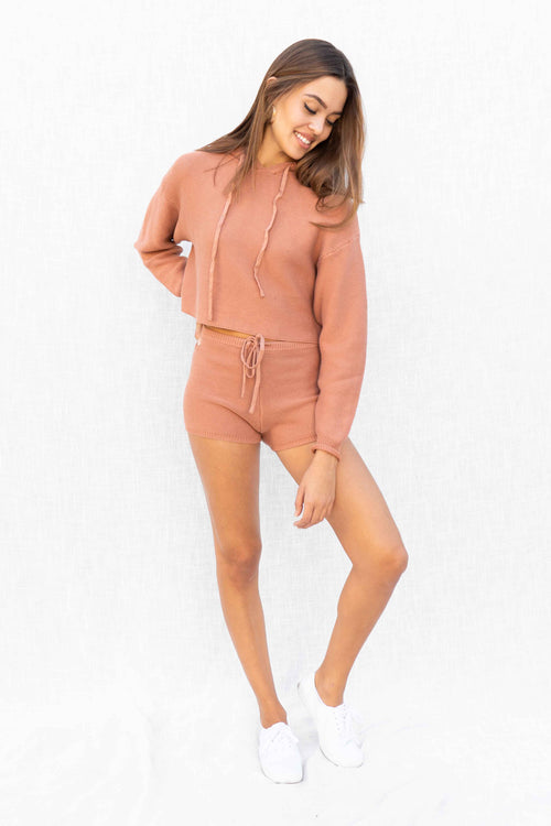 Dannah Hoodie And Short Set