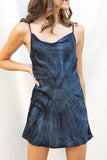 Tie Dye Cowl Neck Slip Dress